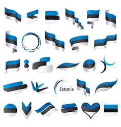 Biggest collection of flags of estonia vector