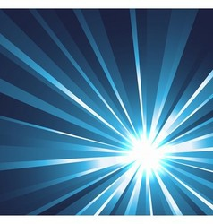 Star burst background in blue vector