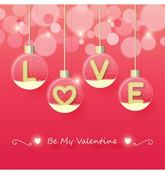 love valentines day background vector image
