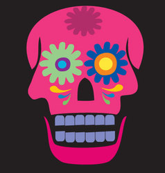 Colored pink skull vector