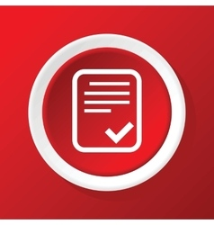 Accepted document icon on red vector