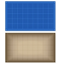 Set of blueprint backgrounds vector