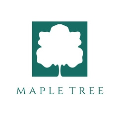 Abstract maple tree design template vector