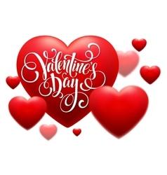 Red Blur Hearts Valentine day background vector image