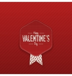 Realistic valentines day emblem with text vector