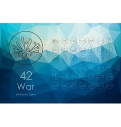 Set of war icons vector