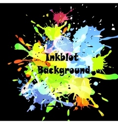 Abstract inkblot background vector