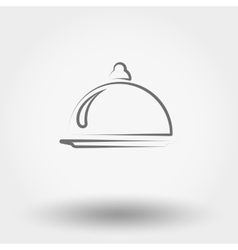 Food serving vector
