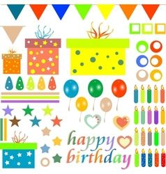Happy birthday design elements vector