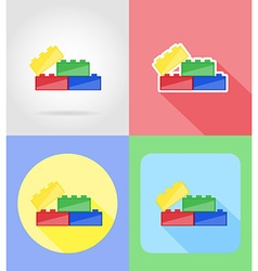 baby flat icons 13 vector image