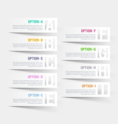 Abstract infographics letter options template vector image