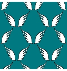 Angel white wings sketch pattern vector image vector image