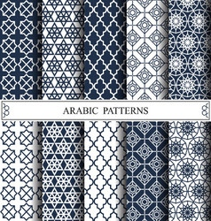 arabic patterns vector image vector image