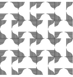 Black and white geometric seamless pattern with vector