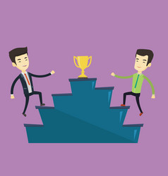 businessmen competing for the business award vector image
