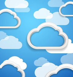 Clouds on the sky vector image