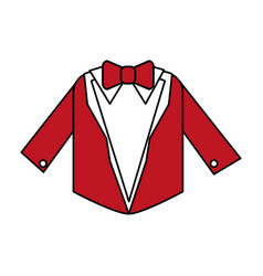 Color silhouette image wedding suit male jacket vector