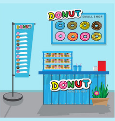 donuts small shop vector image vector image