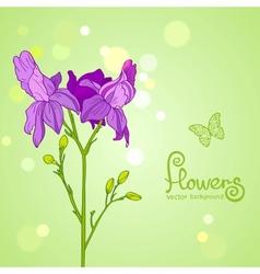 flowers purple vector image