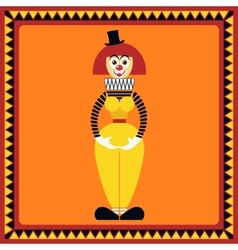 Funny female clown is in beautiful pose vector image vector image