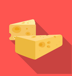 Hard cheese icon in flat style isolated on white vector