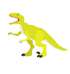 isolated dinosaur toy vector image