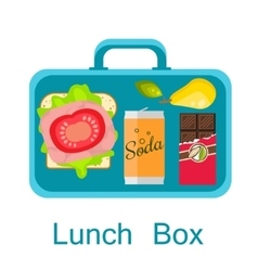 Lunch box snack pack for student vector