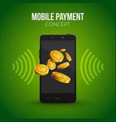 mobile payment concept design template Mobile vector image