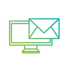 monitor screen email message letter communication vector image