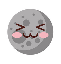 Natural satellite moon comic character vector