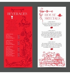old medieval style menu vector image vector image