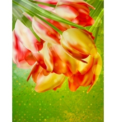 Orange frame with flowers EPS 10 vector image vector image