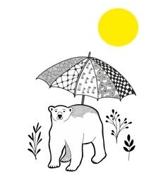 Polar bear on the vacation vector image