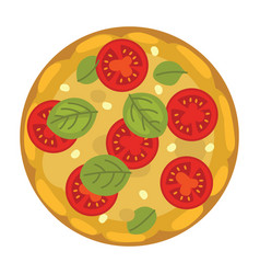 popular pizza italian cook and pizzas delivery vector image