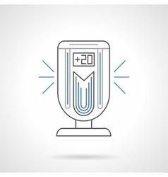 Portable air ionizer flat line icon vector
