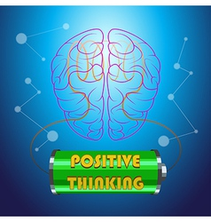 Positive Thinking vector image