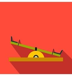 Seesaw flat icon vector image