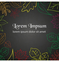 Simple autumn leaf color border for your text vector