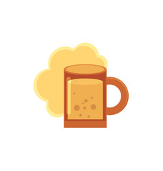 stylized flat style icon of beer ale cider mug vector image vector image