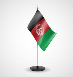 Table flag of afghanistan vector