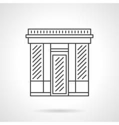 Textile shop facade flat line icon vector image vector image