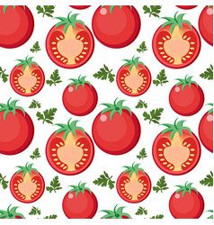 tomato seamless pattern tomatoes endless vector image vector image