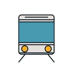 Train transportation vehicle travel icon vector