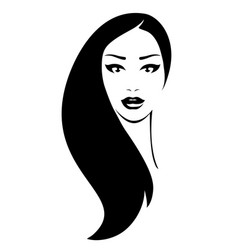 Woman with black hair vector