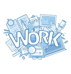 Work background Stressful in office with too many vector image vector image
