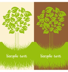 Set of two Nature backgrounds vector image