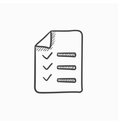 Shopping list sketch icon vector