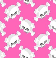 Isometric skull seamless pattern head skeletal vector