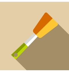 Kitchen spatula icon flat style vector