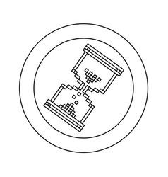 figure blue symbol pixel hourglass cursor icon vector image